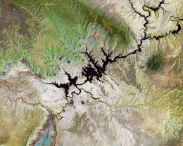 Озеро Пауэлл, USGS / ESA