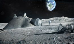 3d строительство на Луне