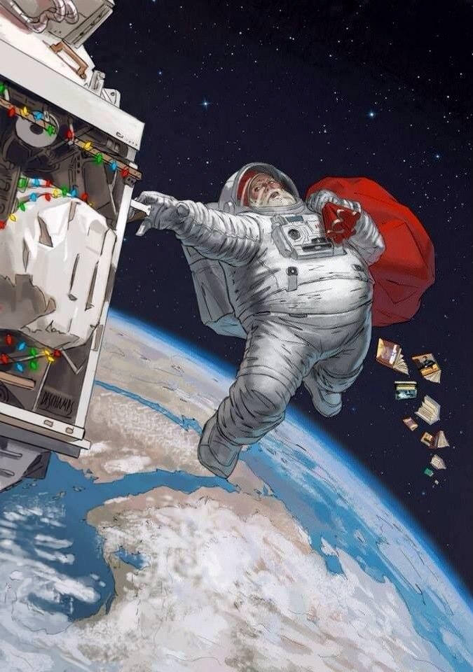 Поздравлениями мальчику, новый год открытки космос