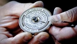 олимпийские медали с челябинским метеоритом