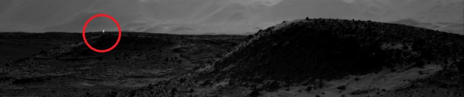загадочный свет на марсе